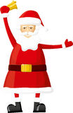 Vector Santa With Bell Stock Images