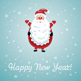 vector santa with big beard Royalty Free Stock Images