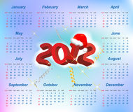 Vector Santa calendar 2012 year. (week starts on Sunday Royalty Free Stock Photography