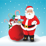Vector santa claus Royalty Free Stock Image