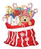 Vector Santa Claus bag. Royalty Free Stock Photography