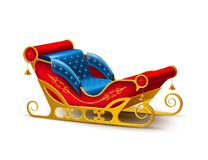 Vector Santa Claus christmas holiday sleigh Stock Image