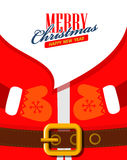 Vector Santa claus close up Royalty Free Stock Images