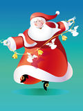 Vector santa claus dancing Royalty Free Stock Photography