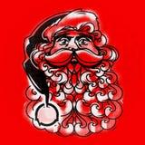 Vector Santa Claus Face Tarjeta de felicitación Imagenes de archivo