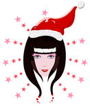 Vector Santa Claus girl Stock Images