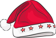 Vector Santa Claus hat. Stock Images