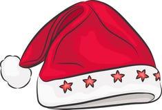 Vector Santa Claus hat. Stock Images