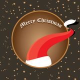 Vector Santa Claus hat on vintage background. Royalty Free Stock Photography