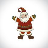 Vector Santa Claus isolated on white background. Royalty Free Stock Photo