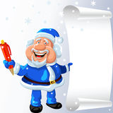 vector Santa Claus with a pen and a scroll Royalty Free Stock Photography