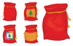 Vector Santa Claus sacks. Stock Photos