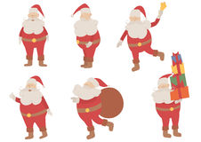 Vector Santa Claus set Stock Images