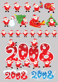 Vector santa collection Stock Image