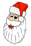 Vector Santa Face Royalty Free Stock Photo