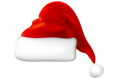 Vector santa hat. Realistic  santa hat on a white Royalty Free Stock Image