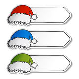 vector Santa hat with label Stock Images