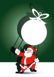 Vector of Santa holding  christmas ball banner Royalty Free Stock Images