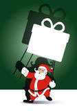 Vector of Santa holding  gift box banner Stock Image