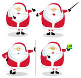 Vector Santas Stock Image