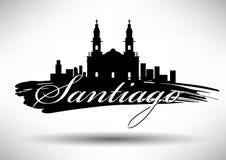 Vector Santiago City Skyline Design vector illustration