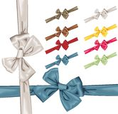 Vector satin bows and ribbons Royalty Free Stock Photos