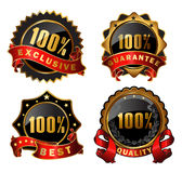 Vector satisfaction labels. Vector Collection of satisfaction labels Stock Photos