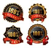Vector satisfaction labels Stock Photos