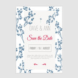 Vector  save the date card  with hand drawn Royalty Free Stock Images