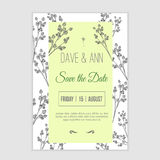 Vector  save the date card  with hand drawn Royalty Free Stock Photos