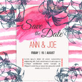 Vector  save the date card  with hand drawn Stock Photo