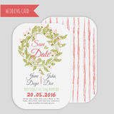 Vector  save the date card  with hand drawn Royalty Free Stock Photography