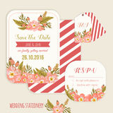 Vector  save the date card  with hand drawn Stock Images