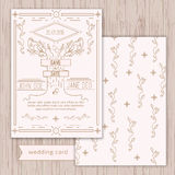 Vector save the date card template - wedding Royalty Free Stock Images