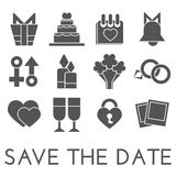 Vector save the date set. Flat design Stock Photos