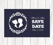 Vector save the date wedding invitation with Stock Photo
