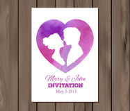 Vector save the date wedding invitation with Royalty Free Stock Photos