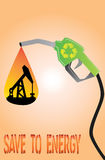 Vector save to energy concept. Art eps file Royalty Free Stock Images