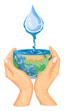 Vector of save water concept. Stock Photography