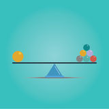 Vector of Scales balance concept Stock Photography