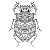 Vector Scarab Beetle Stock Photography