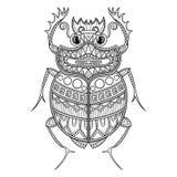 Vector Scarab Beetle vector illustration