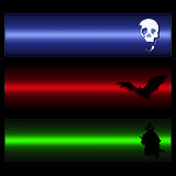 Vector Scary Banners Royalty Free Stock Image