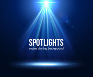 Vector scene illuminated spotlight. Dark spotlight Royalty Free Stock Photo