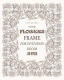 Vector schönen Rahmen der Blumen für Fotos, Dekoration und jeden möglichen Fall Lizenzfreies Stockfoto