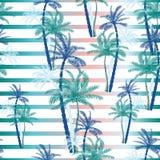 Vector schönes exotisches tropisches Sommermuster mit Palmen Lizenzfreies Stockfoto