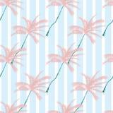 Vector schönes exotisches tropisches Sommermuster mit Palmen Stockfotos