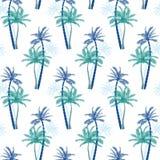 Vector schönes exotisches tropisches Sommermuster mit Palmen Stockbild
