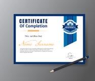 Vector Schablone für Zertifikat der Fußballtrainingsakademie Lizenzfreie Stockbilder