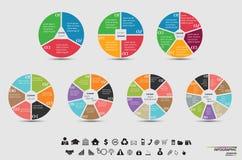 Vector Schablone für Zyklusdiagramm, Diagramm, Darstellung und rundes Diagramm Stockbild